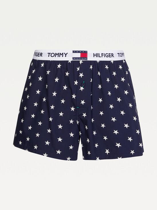 Star Print Woven Boxers