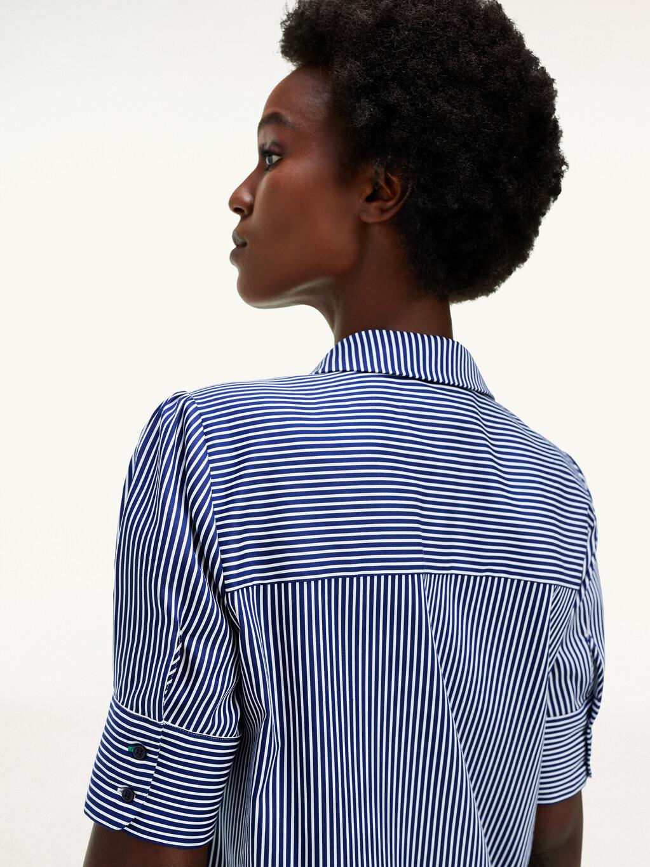 Sateen Relaxed Fit Shirt Dress