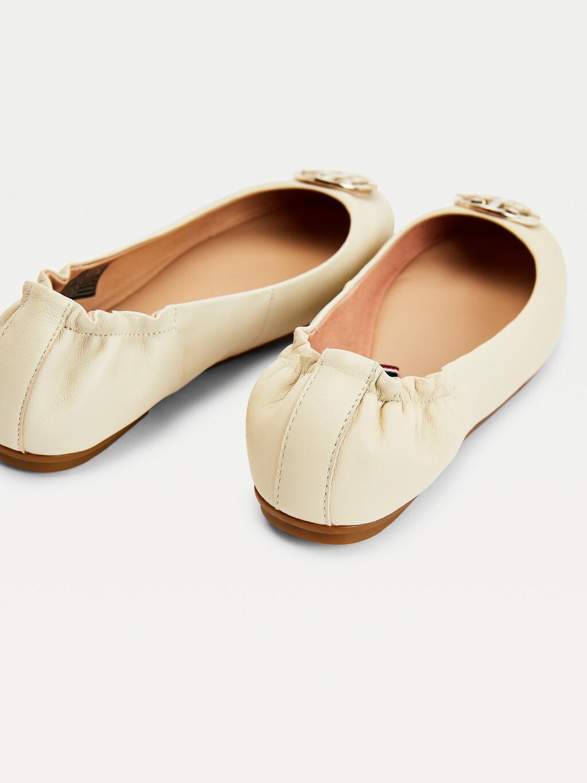 Monogram Leather Ballerina Flats