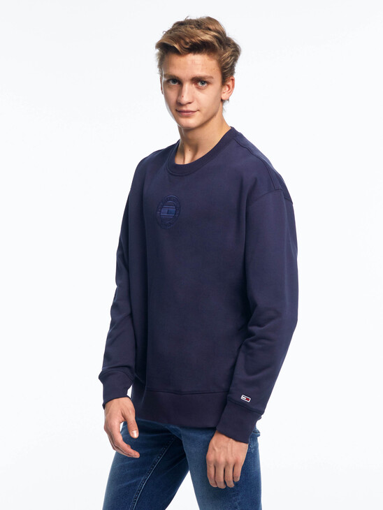 Logo Embroidery Organic Cotton Sweatshirt
