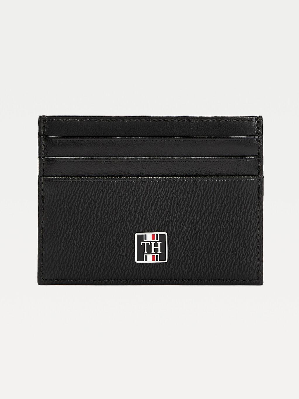 TH Monogram Leather Card Holder