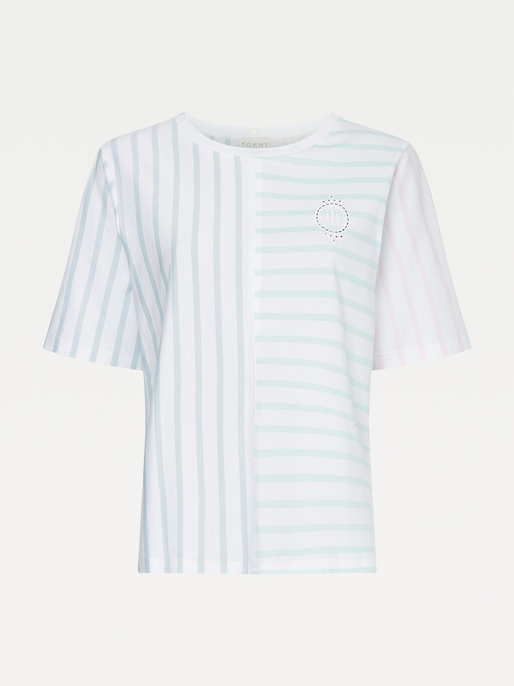 Tommy Icons Mixed Stripe T-Shirt