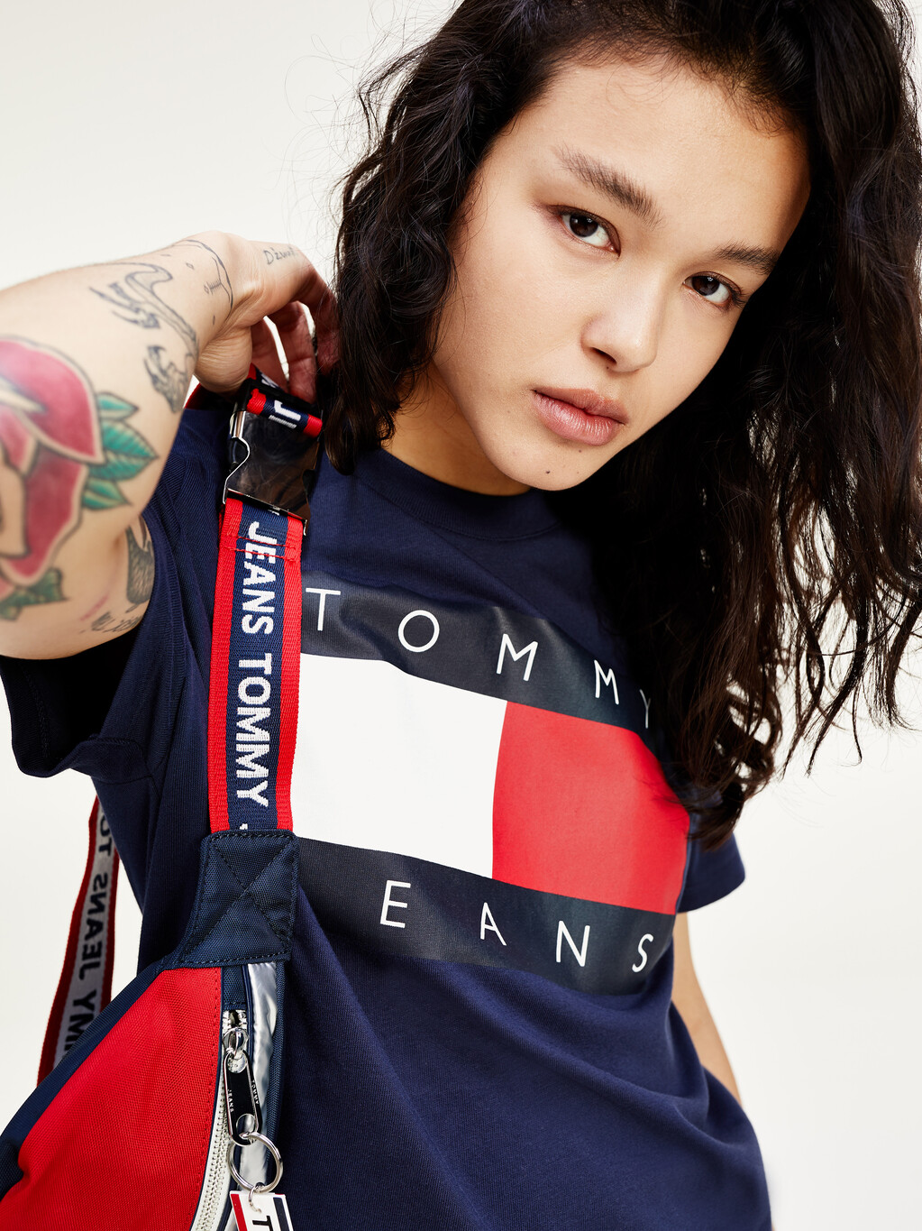 Cropped Fit Flag T-Shirt