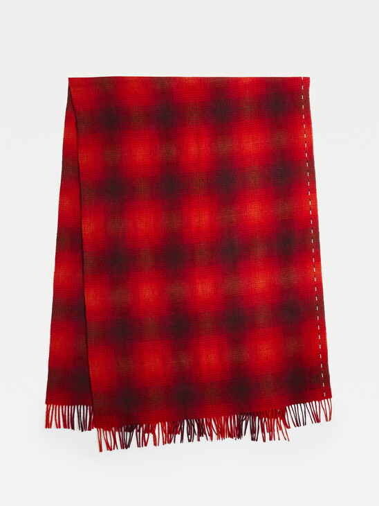Elevated Check Wool Scarf