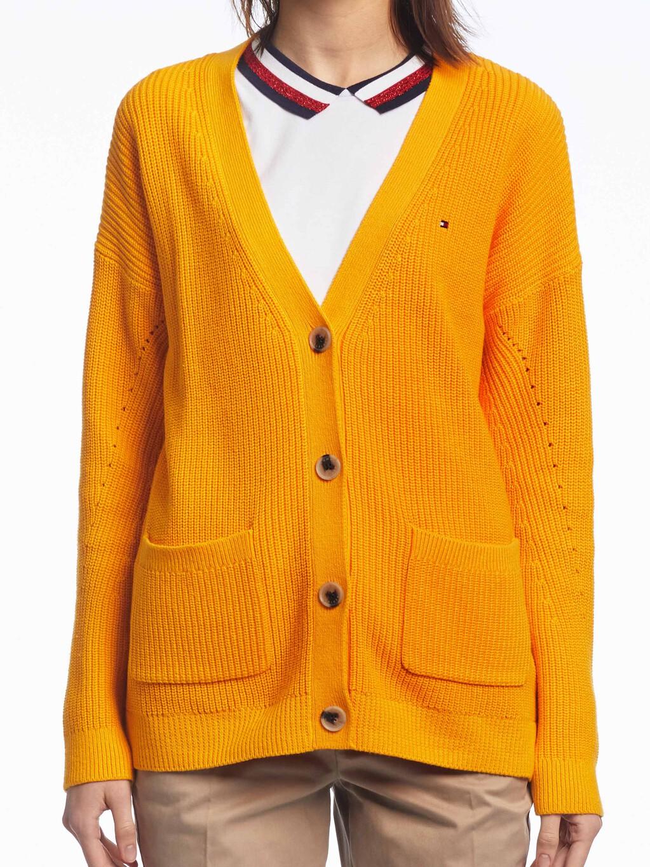 Contrast Knit V-Neck Cardigan