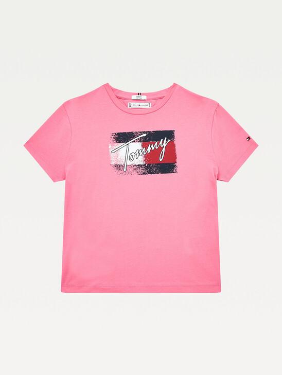 Organic Cotton Flag Print T-Shirt