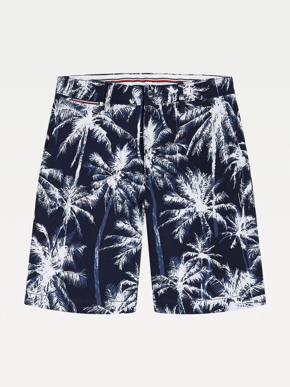 Brooklyn Palm Print Slim Fit Shorts