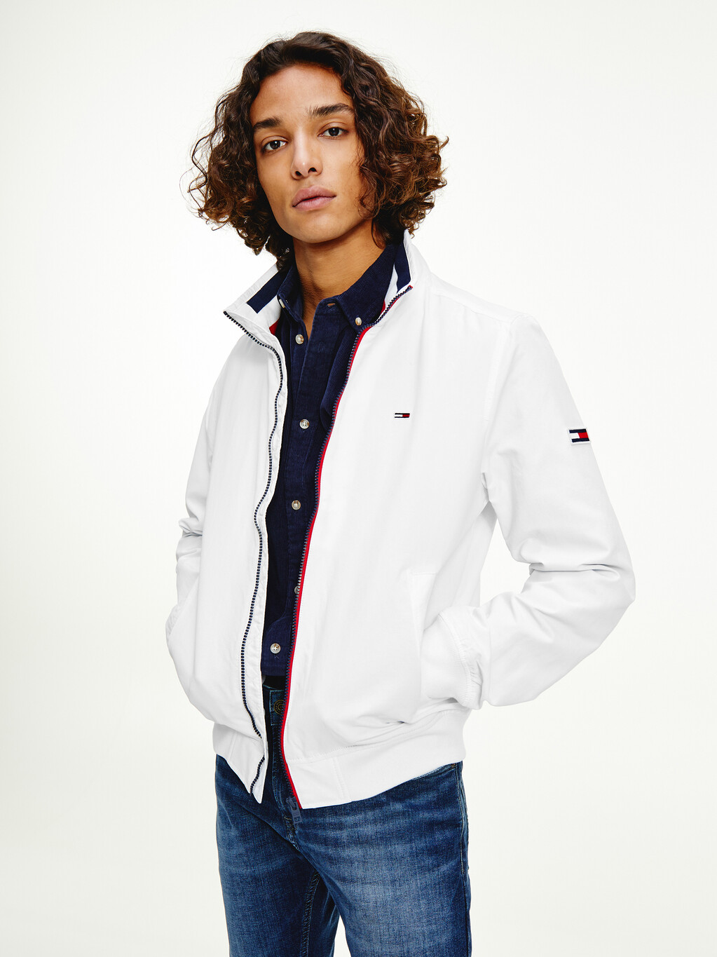 Essential Flag Patch Bomber Jacket