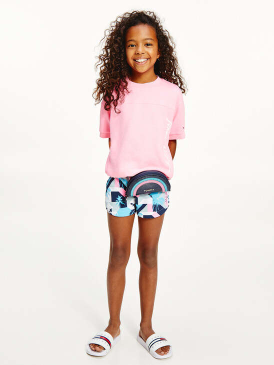 Palm Print Sports Shorts