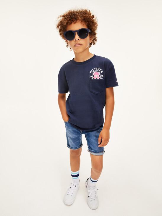Skate Print Back Logo T-Shirt