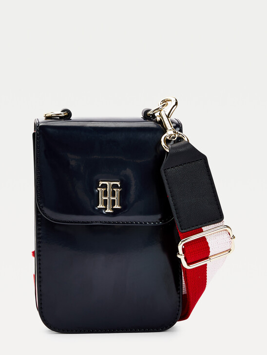 TH Staple Small Patent Crossover Bag