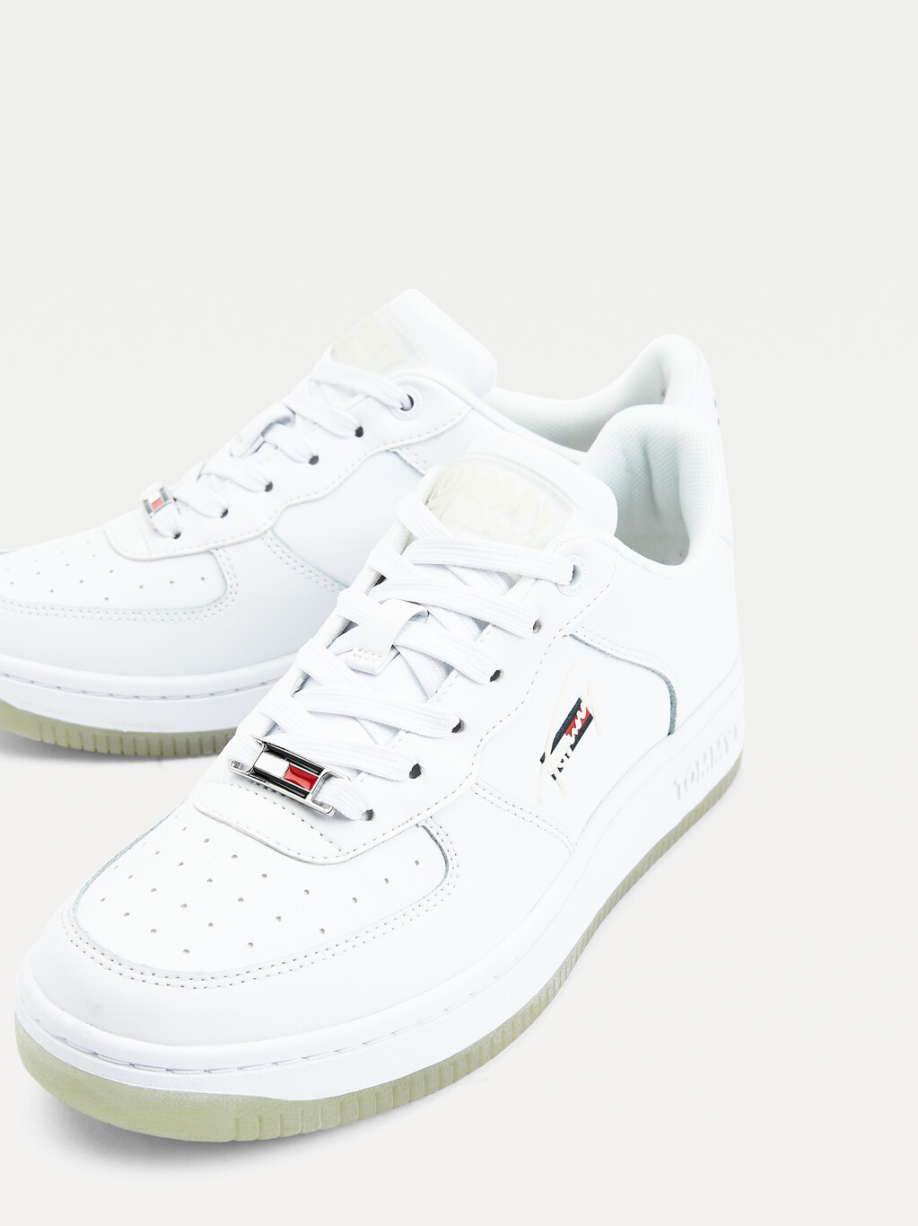 Leather Nightglow Basketball Trainers