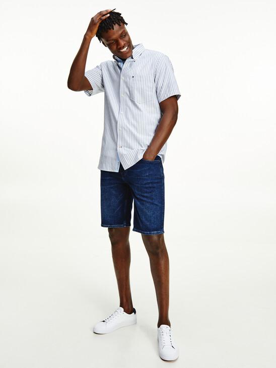 Stripe Short Sleeve Regular Fit Shirt