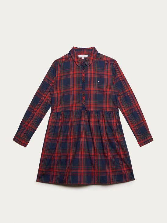 ORGANIC COTTON PLAID SHIRT DRESS