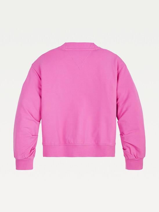 Pleated Sleeves Sweatshirt