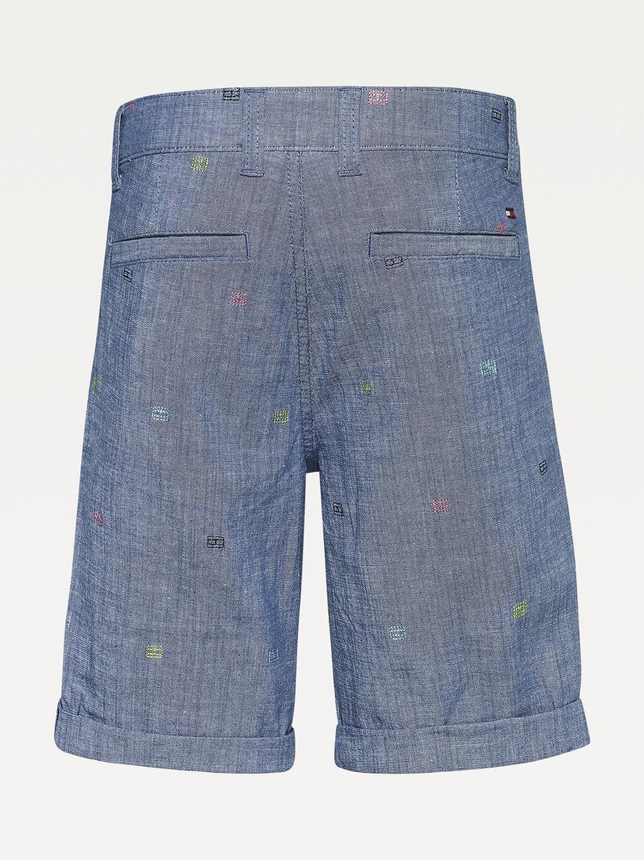 Chambray Turn-Up Shorts