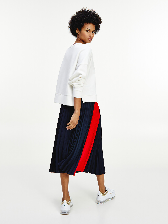 Fluid Pleated Midi Skirt