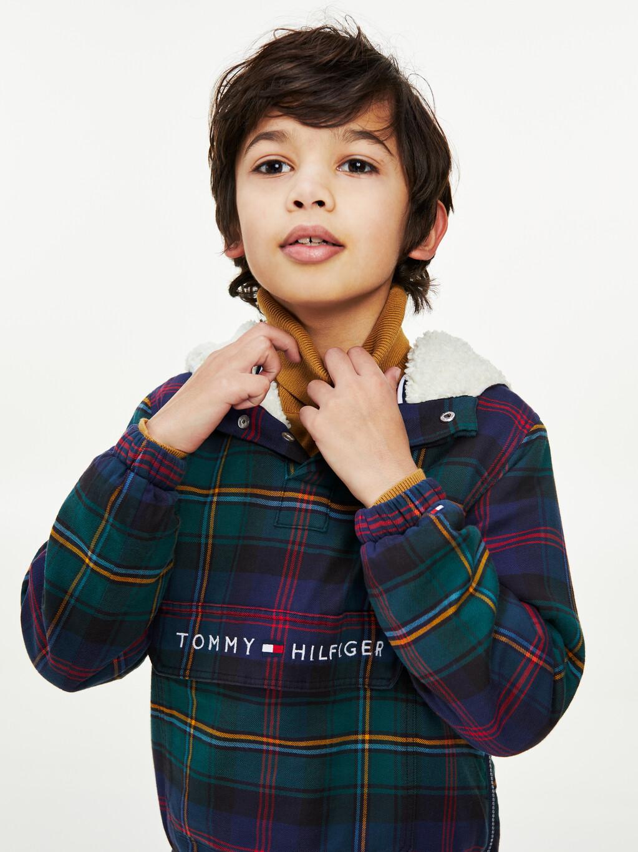 Sherpa Hood Check Overshirt