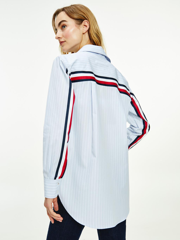 Organic Cotton Poplin Signature Tape Shirt