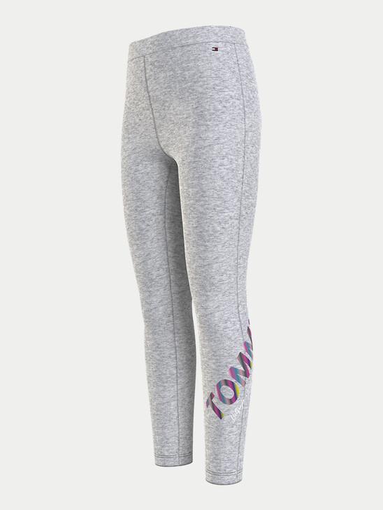 Organic Cotton Metallic Logo Leggings