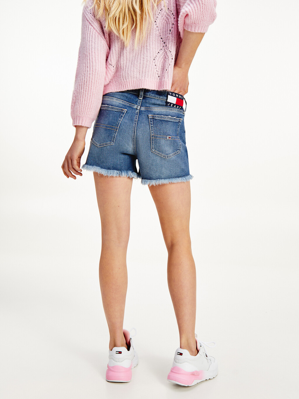 Tommy Badge Relaxed Denim Shorts