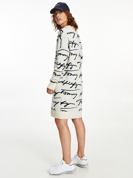 All-Over Signature Polo Jumper Dress