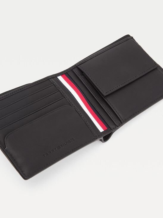 Commuter Card And Coin Leather Wallet