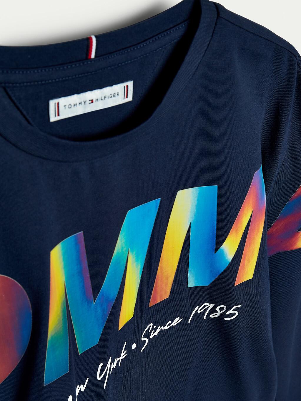 Metallic Logo Long Sleeve T-Shirt