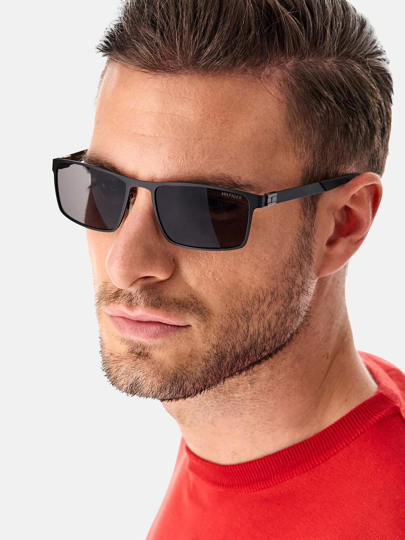 Rectangular Metal Frame Sunglasses