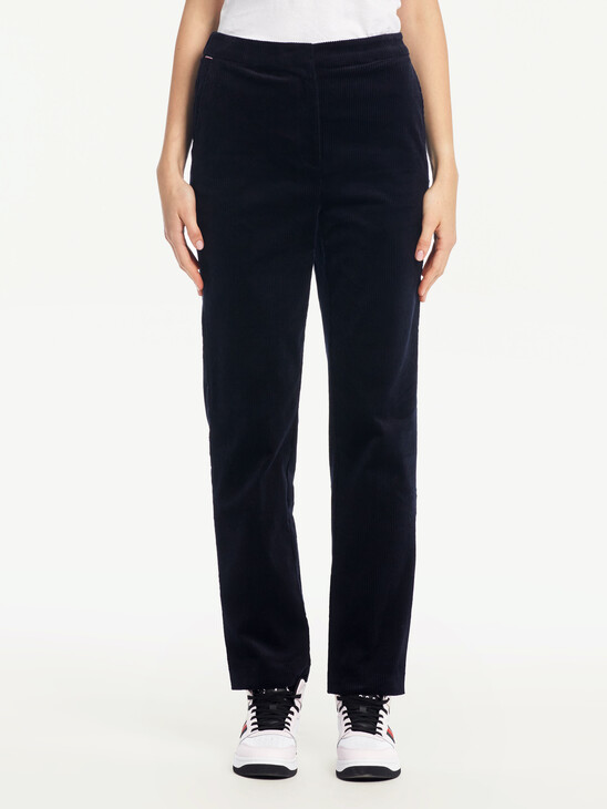TAPERED CORDUROY PULL ON PANTS
