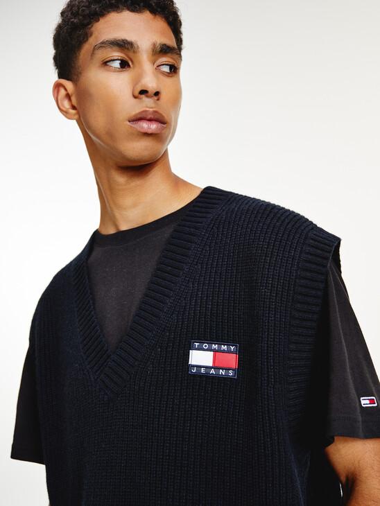 Tommy Badge V-Neck Jumper Vest