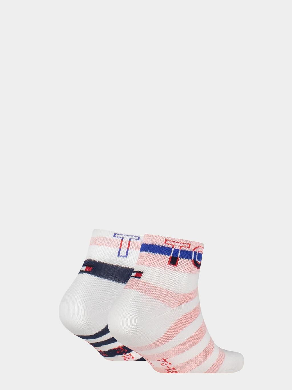 2-Pack  Stripe Quarter Socks