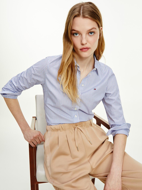 Cotton Poplin Stripe Regular Fit Shirt