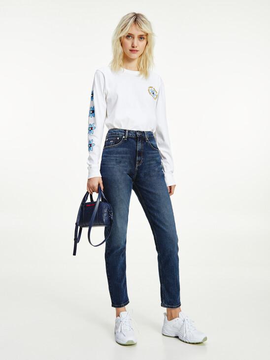 Flower Print Long Sleeve T-Shirt