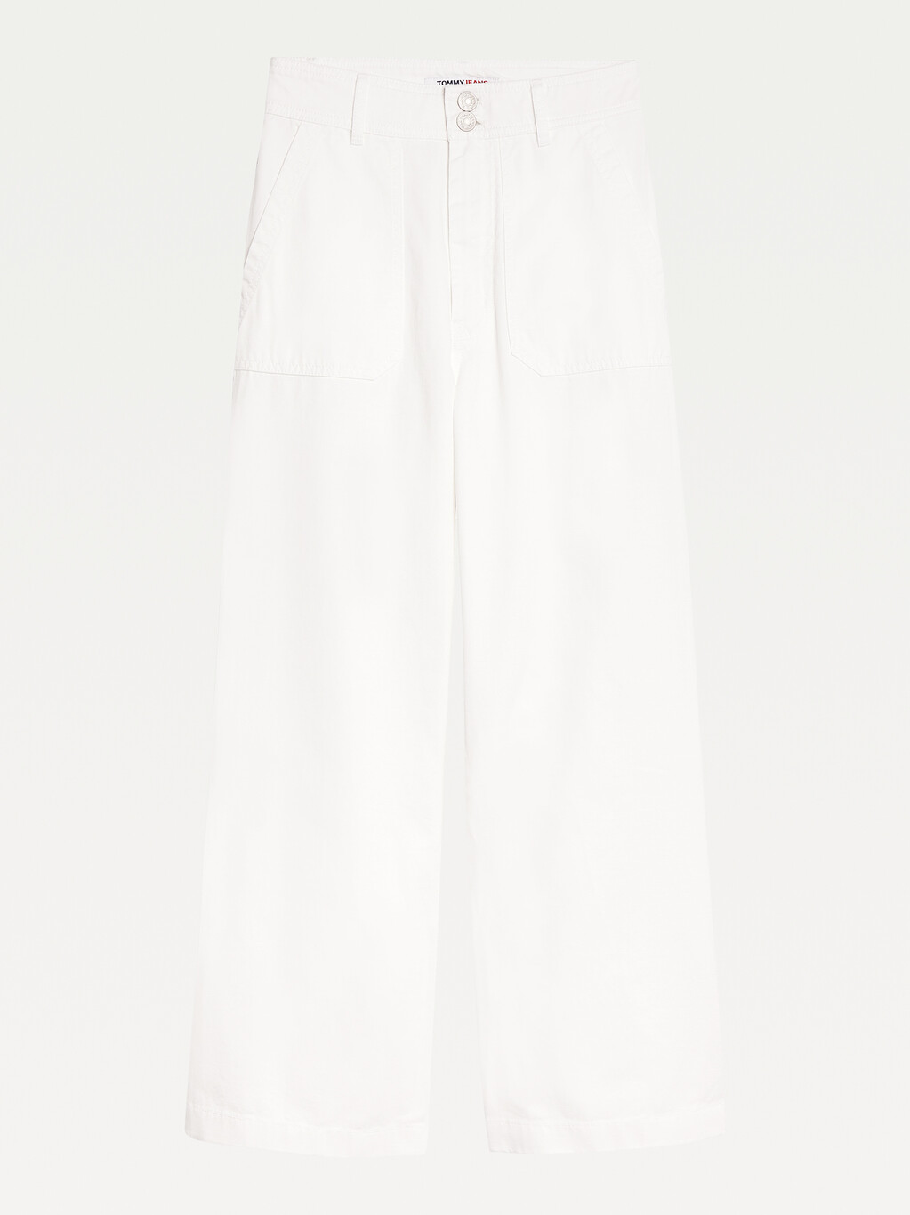 Tommy Badge High Rise Straight Trousers