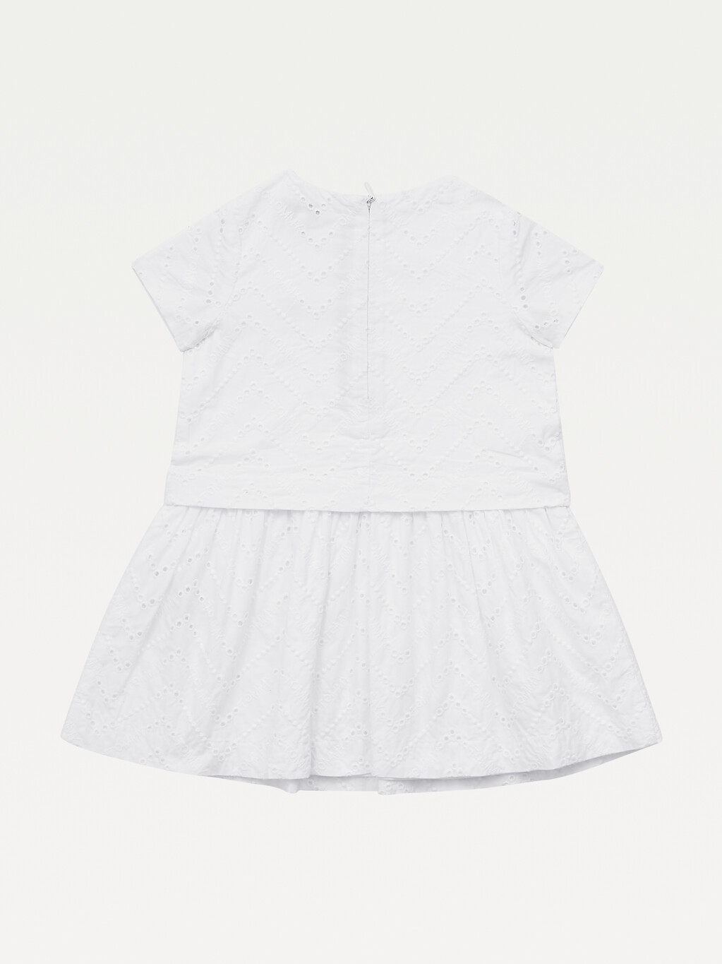 Organic Cotton Broderie Anglaise Layered Dress