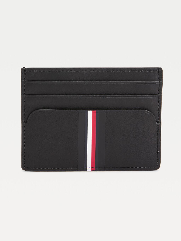Commuter Signature Trim Leather Card Holder