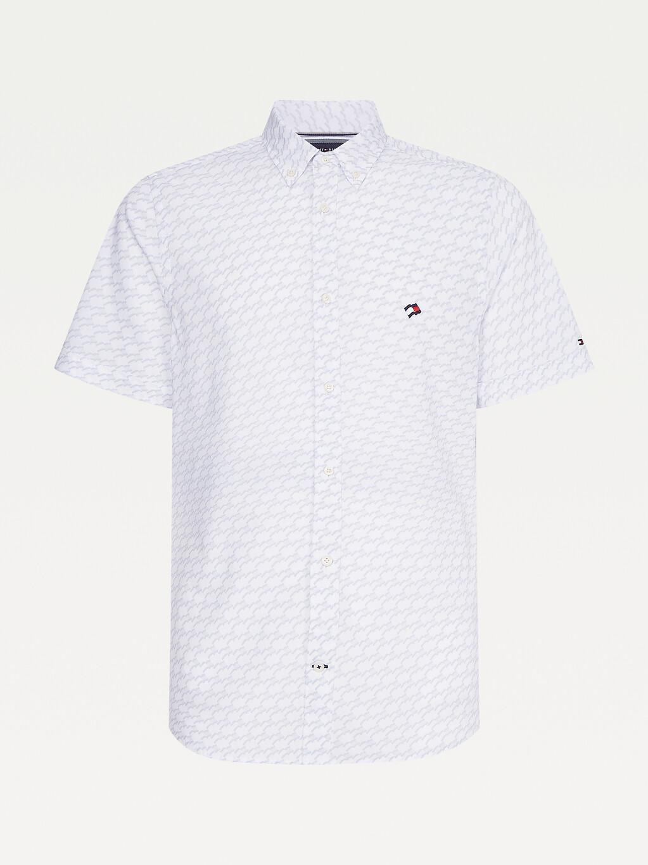 Flag Slim Fit Short Sleeve Shirt