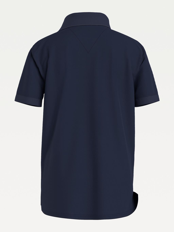 Colour-Blocked Organic Cotton Polo