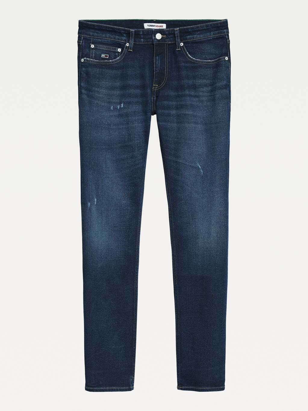 Scanton Slim Distressed Faded Jeans