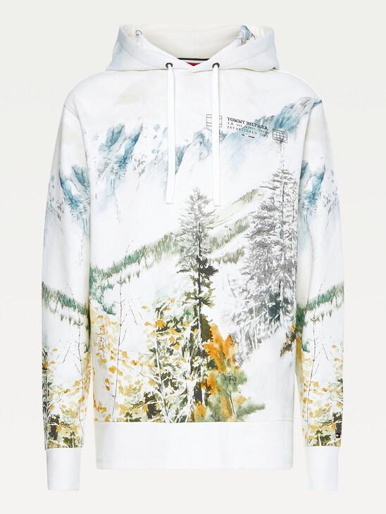 Landscape Print Organic Cotton Hoody