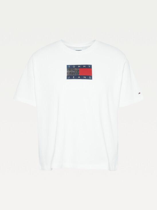 Metallic Logo Cropped T-Shirt