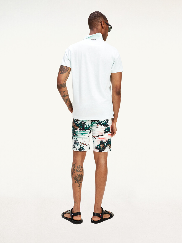 Hawaiian Print Cotton Shorts