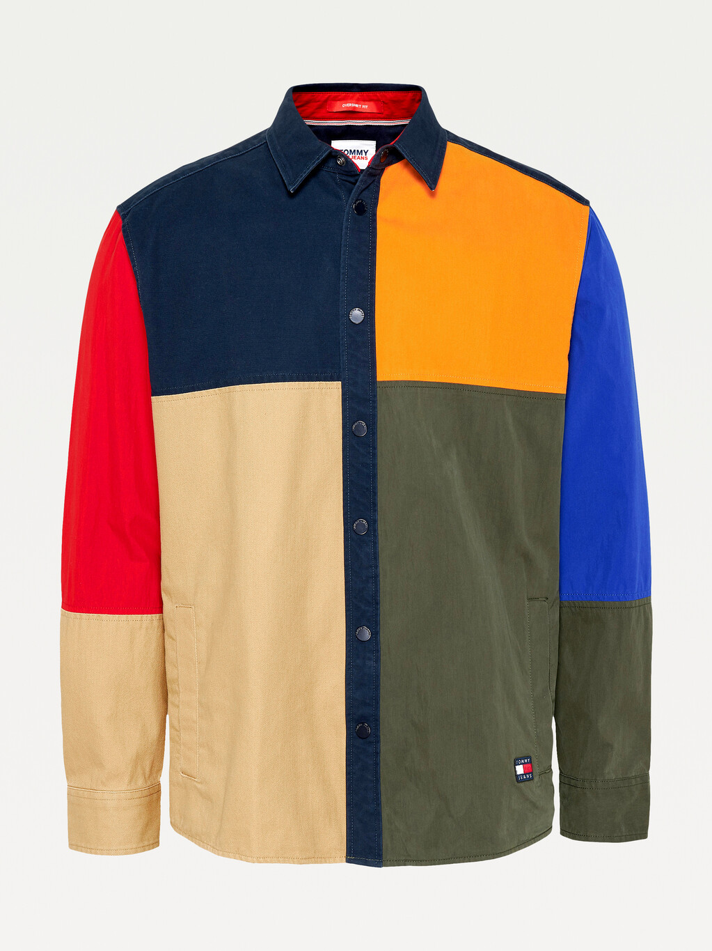 Tommy Badge Colour-Blocked Overshirt